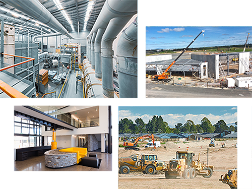 Cluster of Images displaying projects that DMC Ltd has worked on